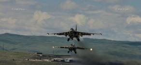 Тренировочные полеты в авиационной военной части Гюмри