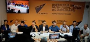 Пресс-конференция членов сборной Армении по греко-римской борьбе