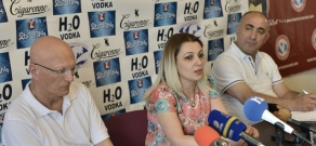 Press conference of monuments specialist Samvel Karapetyan and d head of  'Duty of Soul' NGO Shoghine Hovhannisyan
