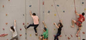 Opening of the highest rock climbing wall in Armenia