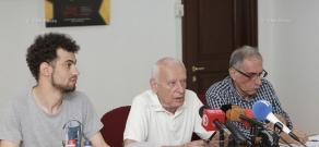 Press conference by organizers of Golden Apricot Film Festival
