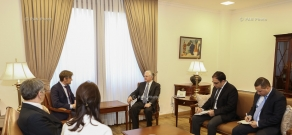 "Foreign Minister Nalbandian received the Head of Team Europe of the ""Konrad Adenauer"" Foundation Lars Hänsel"