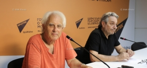 Press conference of French-Armenian singer and composer Marten Yorgantz and composer, singer Yeghishe Petrosyan