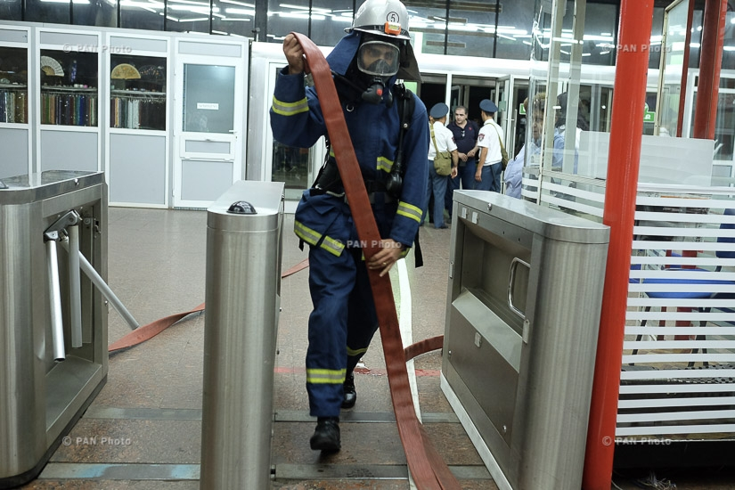 Emergency training Organization and implementation of firefighting and rescue work at Yerevan Metro
