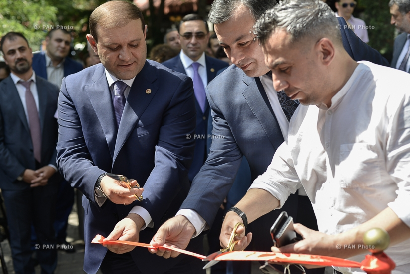 The opening ceremony of the first bookstall in Yerevan Avetik Isahakyan