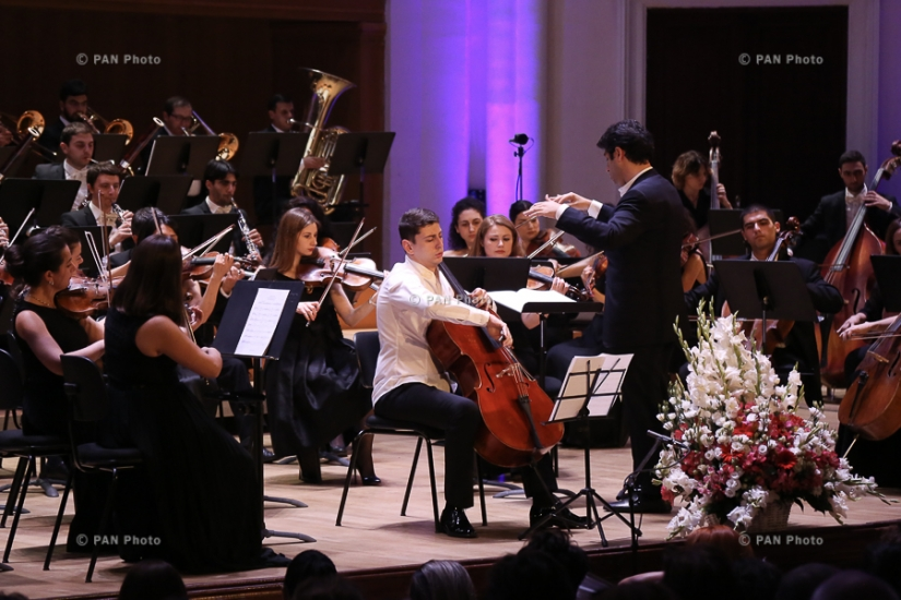 Concert of State Youth Orchestra of Armenia with the participation of cellist Narek Hakhnazaryan in frames of international contest-festival