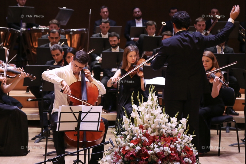 Concert of State Youth Orchestra of Armenia with the participation of cellist Narek Hakhnazaryan in frames of international contest-festival Armenia