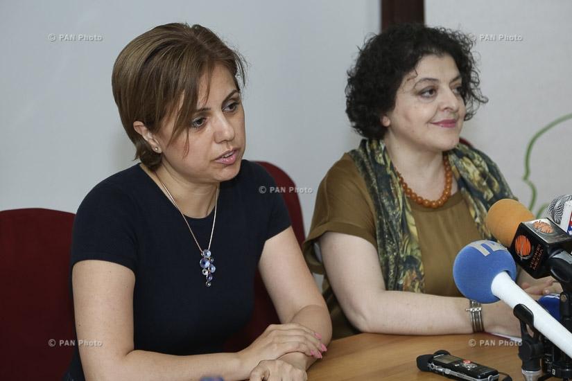 Пресс-конференция Аревик Сарибекян и Сусанны Арутюнян, посвященная 14-ому международному ереванскому кинофестивалю «Золотой абрикос»