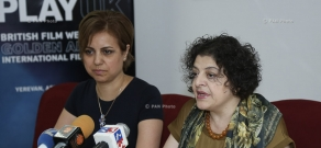 Press conference of Arevik Saribekyan and Susanna Harutyunyan on Golden Apricot 14th Film Festival