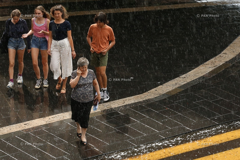 July rain In Yerevan