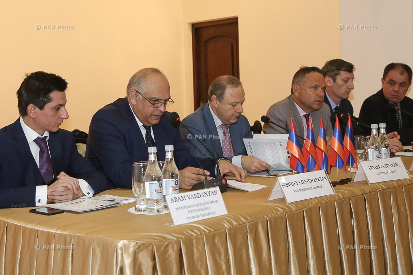Official opening of the conference French health days in Armenia