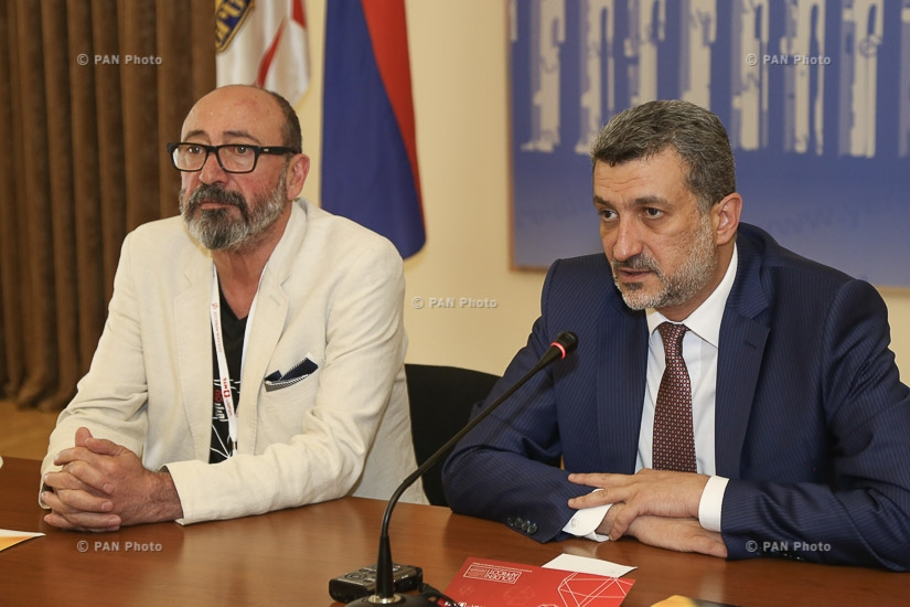 Press conference of Yerevan Deputy Mayor Aram Sukiasyan and general director of Golden Apricot film festival Harutyun Khachatryan