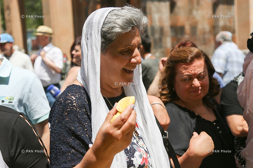 Blessing of apricots during Golden Apricot 14th film festival