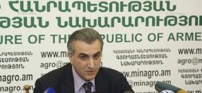 Пресс-конференция министра сельского хозяйства Армении Игнатия Аракеляна
