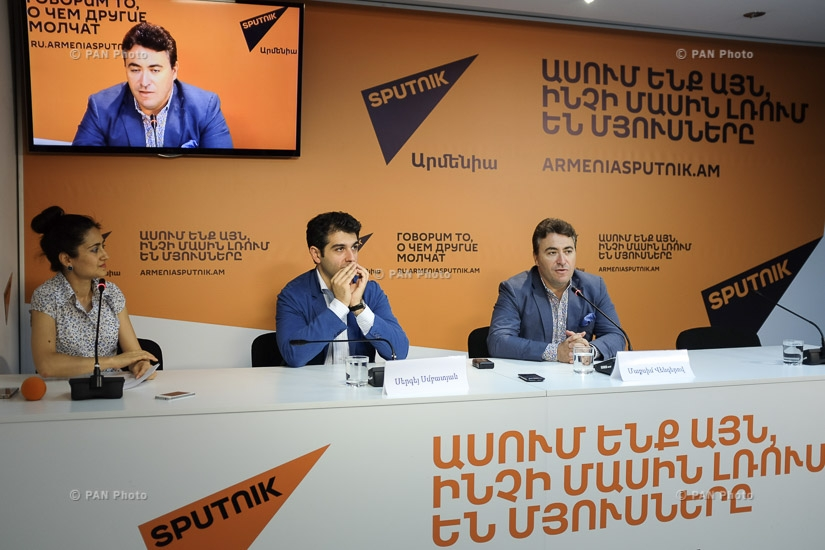 Press conference of violinist,conductor Maxim Vengerov and chief conductor of State Youth Orchestra of Armenia Sergey Smbatyan