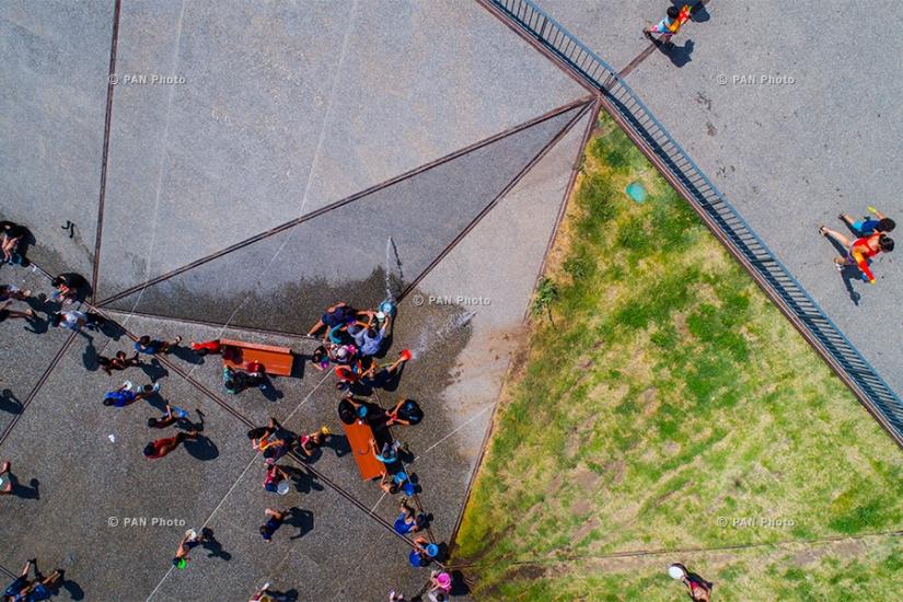 Vardavar water festival 2017 in Yerevan