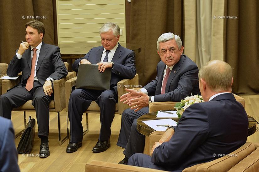 ՀՀ նախագահ Սերժ Սարգսյանը Սոչիում հանդիպել է ՌԴ նախագահ Վլադիմիր Պուտինի հետ