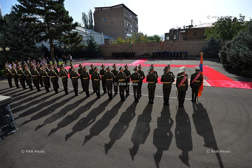 В резиденции президента РА состоялась официальная церемония встречи президента Туркменистана  Гурбангулы Бердымухамедова