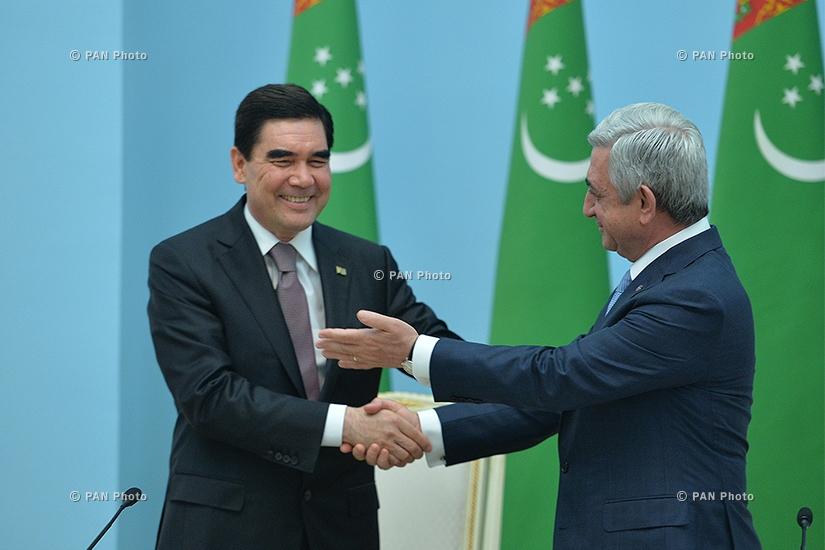 В резиденции президента РА состоялись армяно-туркменские переговоры высокого уровня