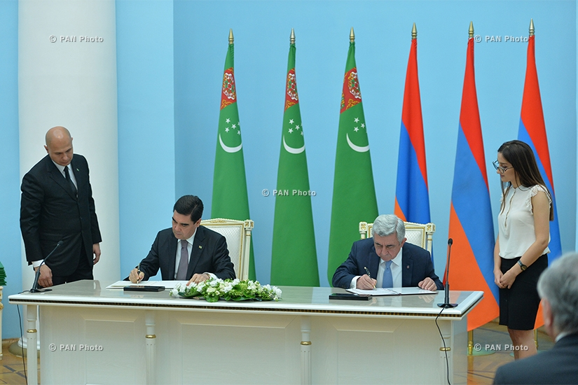 Հայ-թուրքմենական բարձր մակարդակի բանակցություններ ՀՀ նախագահի նստավայրում