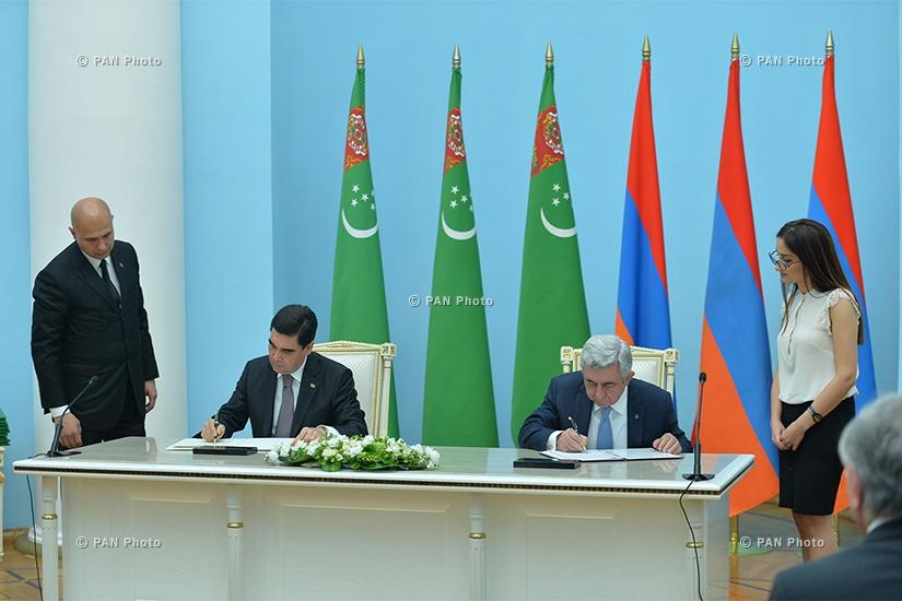 Armenian-Turkmen high-level talks held at RA Presidential Residence