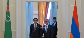 Armenian-Turkmen high-level talks held at RA Presidential Residence