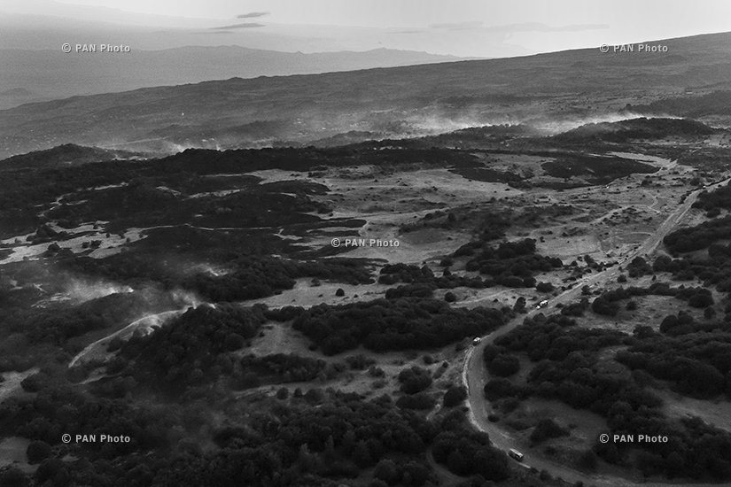 Հրդեհ Բյուրական գյուղի մոտակա բուսածածկ տարածքում