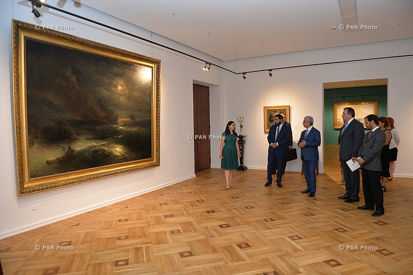 President Serzh Sargsyan visits exposition on 200th birth anniversary of Hovhannes Aivazovsky