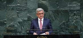 Armenian President Serzh Sargsyan partook in the 72nd session of the UN General Assembly in United Nations headquarters in New York