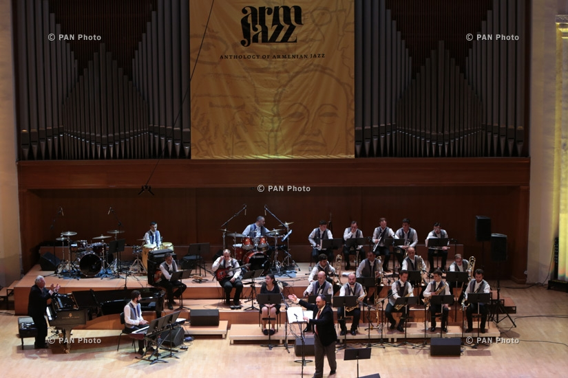 Armenian state jazz band and famous musicians perform for ArmJazz project: Concert and backstage