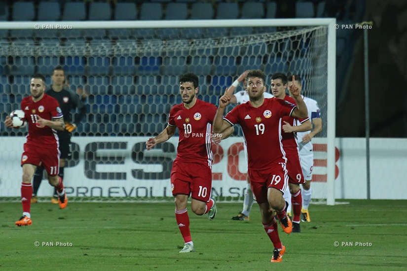 World Cup European Qualifying match Poland vs Armenia