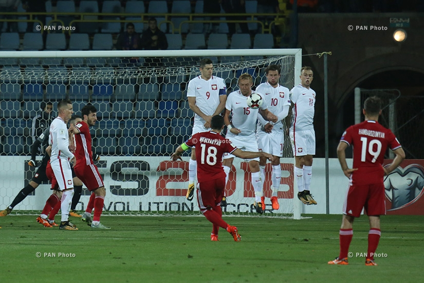 World Cup European Qualifying match Poland vs Armenia