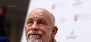 Press conference of american actor, director, and producer John Malkovich