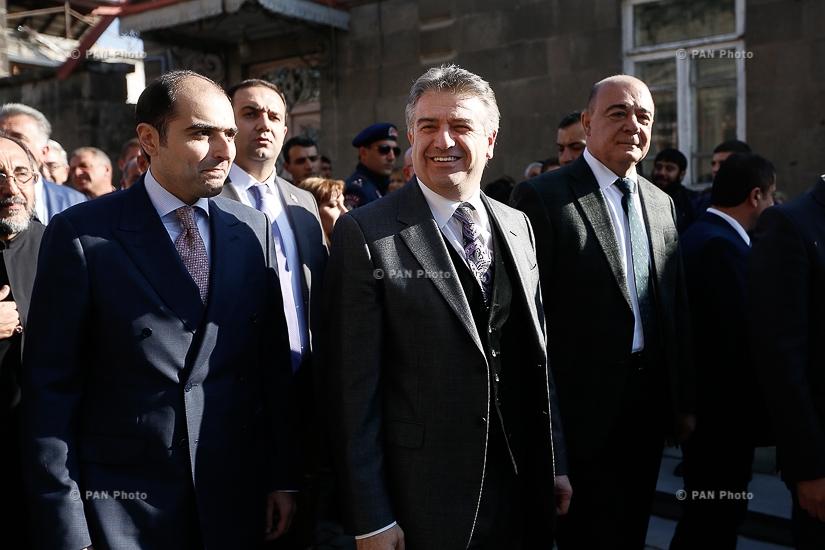 PM Karen Karapetyan attends opening of Rustaveli street recently renovated in Gyumri