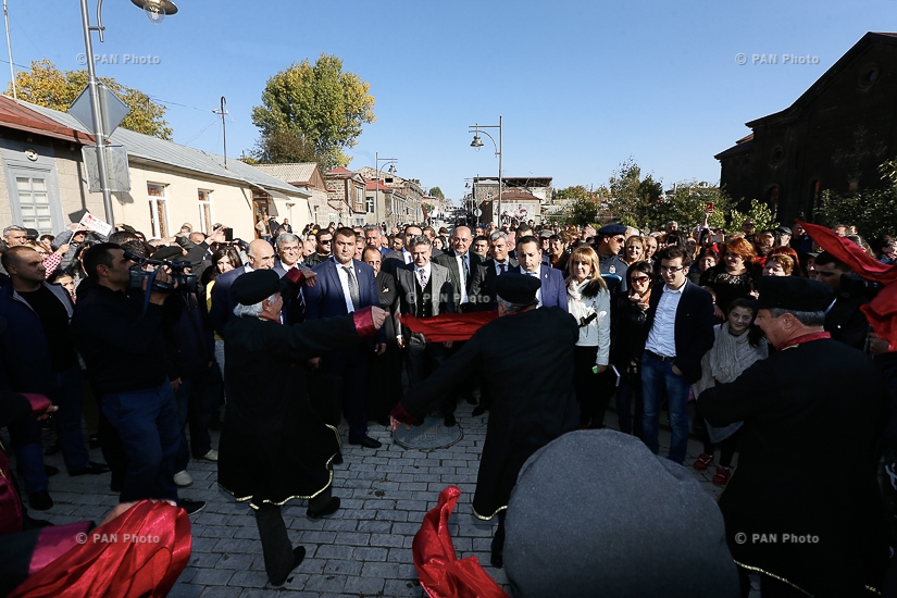 PM Karen Karapetyan attends opening of Rustaveli street recently renovated in Gyumri
