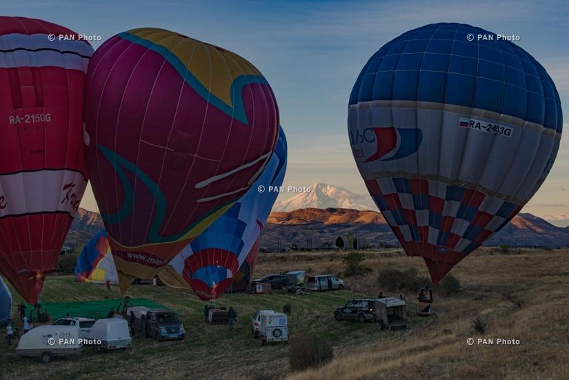 Полеты воздушных шаров над Ереваном и Гарни
