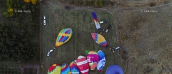 Hot air baloons flying over Yerevan and Garni