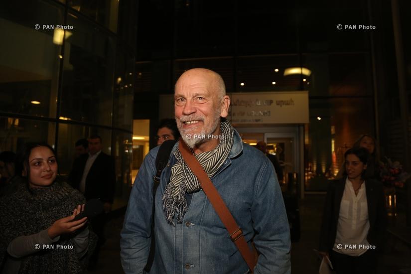Визит американского актера театра и кино, продюсера и кинорежиссера Джона Малковича в Армению
