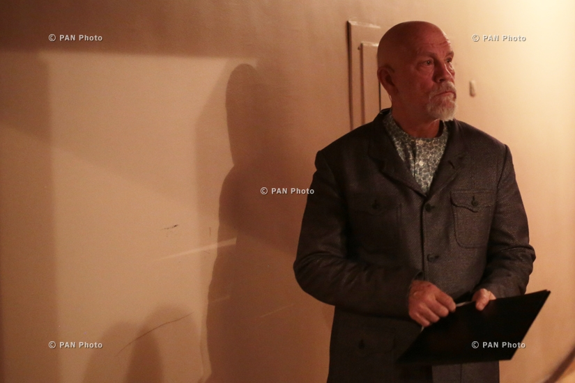 Visit of American actor, director, and producer John Malkovich to Armenia