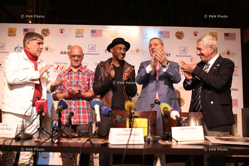 Press conference of American jazz composer, producer guitarist Marcus Miller