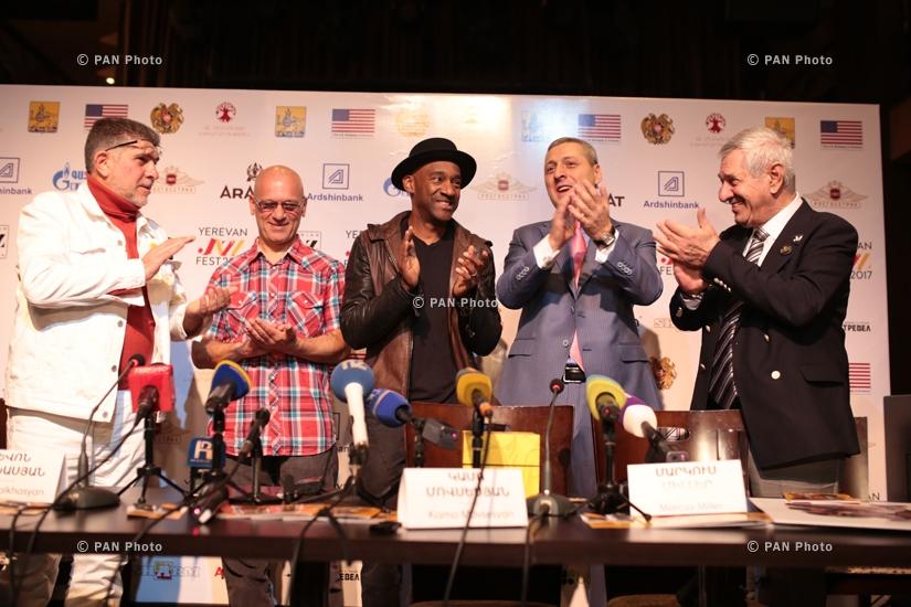 Пресс-конференция джазового музыканта, двукратного обладателя премии «Грэмми» Маркуса Миллера в Ереване