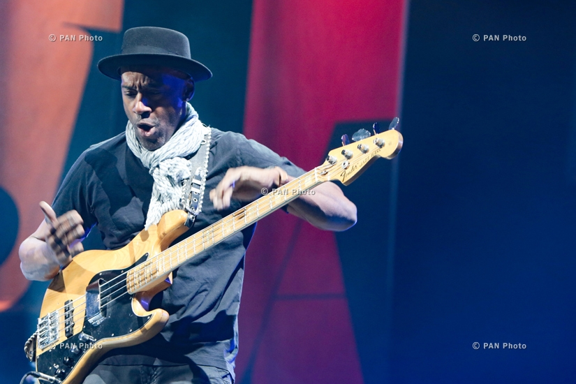 Concert of American jazz composer, producer guitarist Marcus Miller