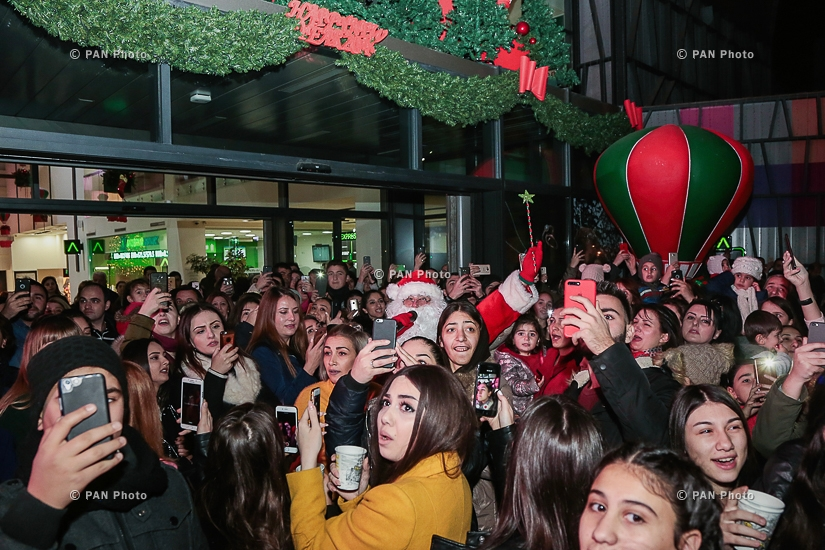 Երևան Մոլի ամանորյա լույսերի միացման արարողությունը