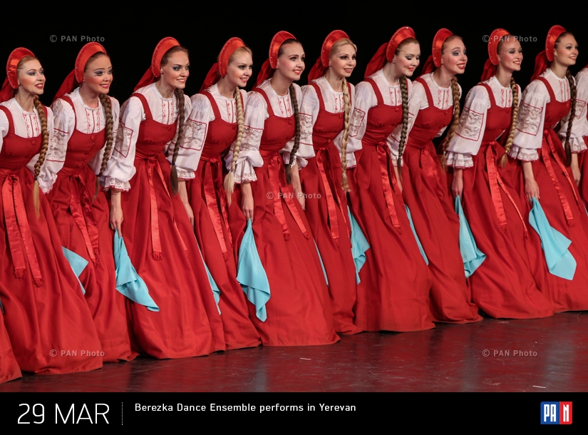 Berezka Dance Ensemble performs in Yerevan