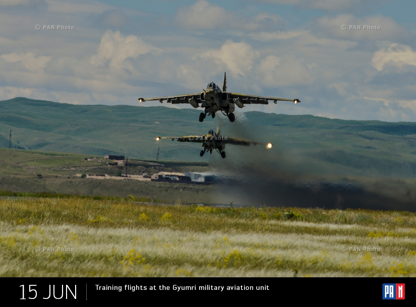Training flights at the Gyumri military aviation unit