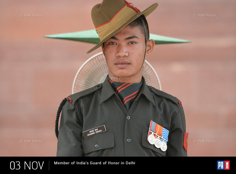 Member of India's Guard of Honor in Delhi