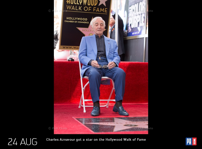 Chansonnier Charles Aznavour got a star on the Hollywood Walk of Fame