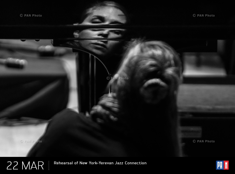 Репетиция «Джазового включения New York - Ереван»