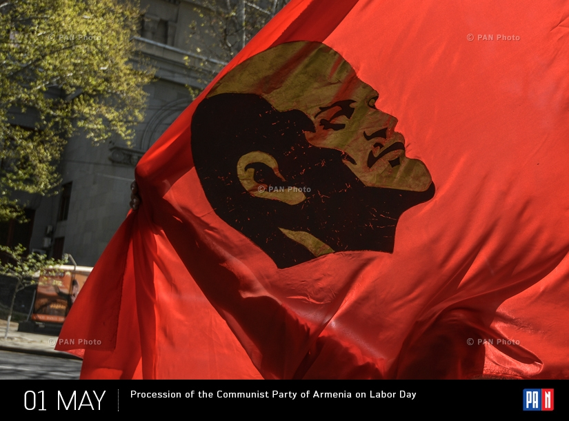 Procession of the Communist Party of Armenia on Labor Day