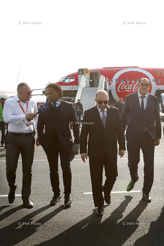 Welcome ceremony of FIFA World Cup™ Trophy at Zvartnots International Airport